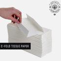 White Kitchen Tissue C Fold Tissue Paper, 35
