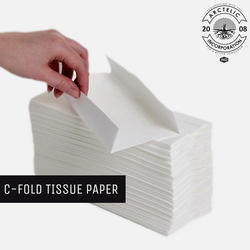 White Kitchen Tissue C Fold Tissue Paper, 35