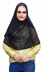 Net Lycra Stitched Hijab Scarf