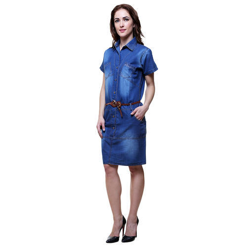 8f4c0d85e70 Ladies Half Sleeve Denim Dress