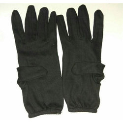 Black Hosiery Hand Gloves