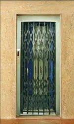 Sliding Regular Gate Elevator Lift Collapsible Gates, For Residential