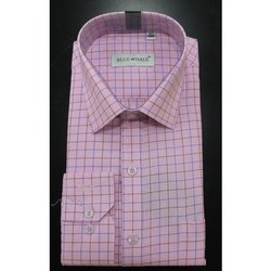 Mens Collar Neck Formal Check Shirt, Packaging Type: Box