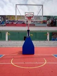 Basketball Pole Movable Non-Adjustable Height