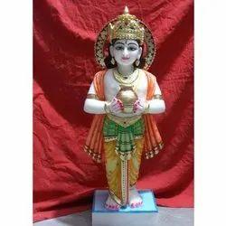 Marble Kubera Statue