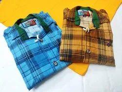 Regular Fit Calvis Kids Full Sleeve Check Shirts