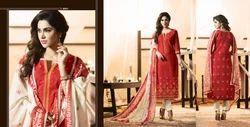 Multicolor Pure Cotton Printed Suits