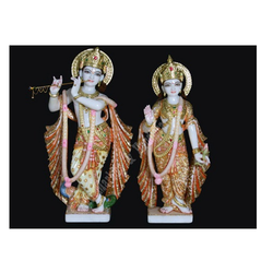Krishna Statue with Radha Marble Idol