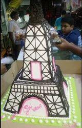 Eiffel Tower Theme Cake