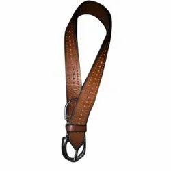 Brown Leather Dog Collar