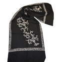 Merino Wool Allover Flower Design Embroidery Scarves