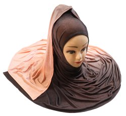 Baby Pink Color 2 Shade Soft Jersey Stretchable Scarf Hijab Dupatta