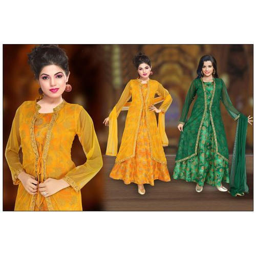 1dc9fa22a1 Ladies Designer Jacket Party Wear Anarkali Suit, Size: S To XXL, Rs ...