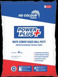 White Cement Based Power Plus Wall Putty, Packaging Type: Bag