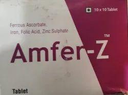 Ferrous Ascorbate, Iron Folic Acid and Zinc Sulphate Tablets