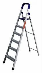 Parasnath Home Pro 6 Step Blue Light Weight Aluminium Heavy Duty Folding Ladder
