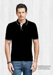 Cotton Collar T-shirts, Size : S