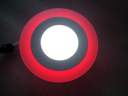 3W Round 2 In 1 LED Color Panel Flat