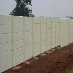 White Precast Compound Wall