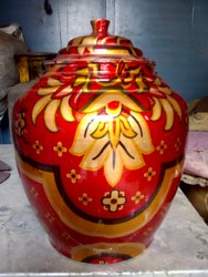 Printed Rajwadi Matka copper matka, For Home