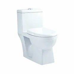 Parryware White Reeve Single Piece Suite, Dimension: 680 x 370 x 735mm