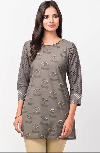a654d00dab2 Cotton Viscose Printed Tunic, Ladies Dresses, Apparels & Clothings ...