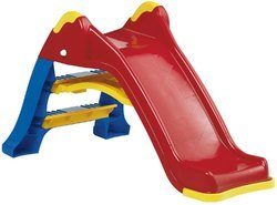 Blue Fibreglass and Iron Slides, Age Group: 2 to 6 Year