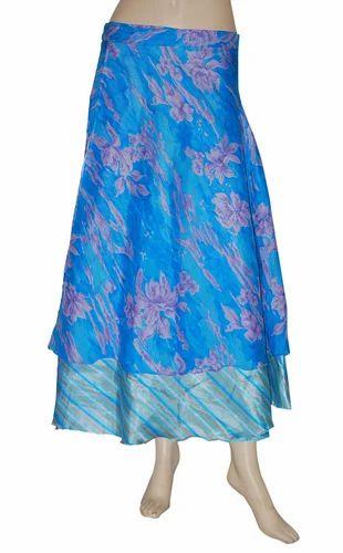 530fd974b Jaipuri Silk Wrap Around Skirt, Size: S, M & L, Rs 195 /piece | ID ...