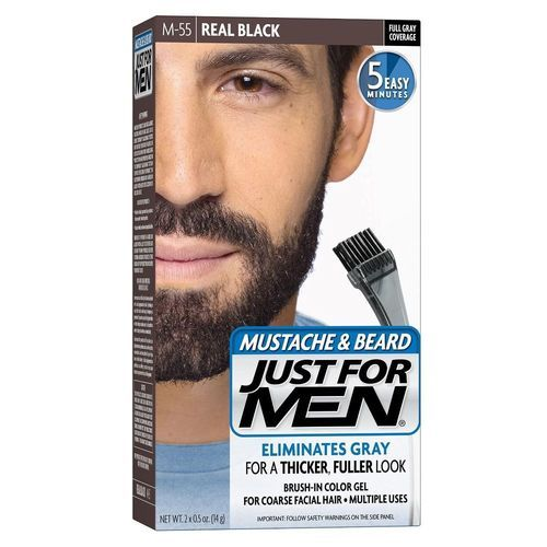 Just For Men Mustache &beard Hair Color Real Black (m 55)