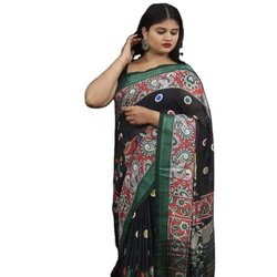 Digital Printed Linen Designer Saree