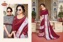 Dyed Embroidery Work Saree - Heart Beat