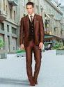 Men 3 Piece Suit With Printed Vest