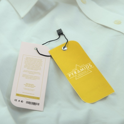 Printed Shirt Tags, Size : 3x4 Inch