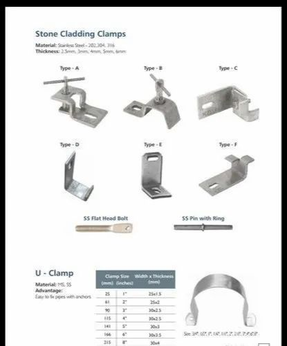 SS Stone Cladding Clamp | Excel Construction Materials