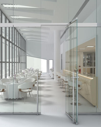 Frameless Glass Doors Glass Partition With Patch Fittings Galaxy