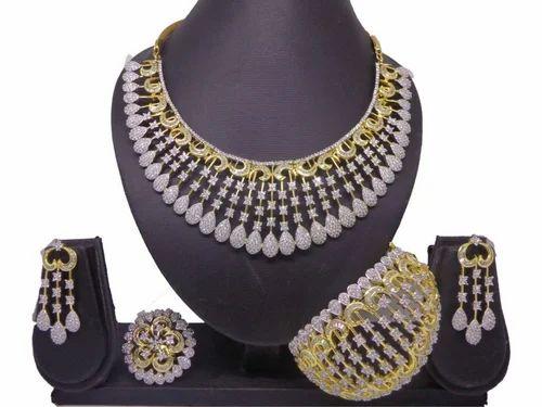 b4e38da21fe Guruji (indiacz) American Diamond Necklace Sets (indiacz)