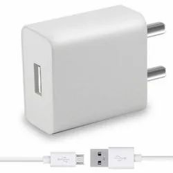 Plastic Adaptor White USB Mobile Phone Charger