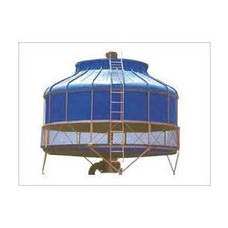 Three Phase Fiberglass Reinforced Polyester FRP Counterflow Cooling Towers, For Industrial, Natural Draft
