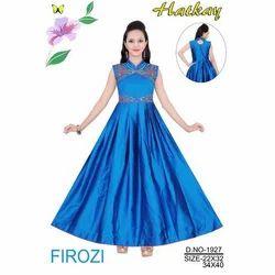 Ladies Sleeveless Ethnic Gown, Size: S - L