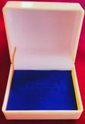 Square Plastic Golden color Ring Jewellery Box