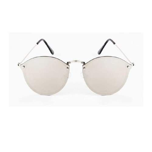 0beae8105e Round Silver Colour New Metal Sides Sunglasses at Rs 65  piece ...
