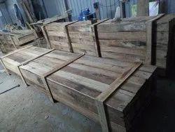 Edible & Non-Edible Termite Resistant Rubber Wood Boxes, For Shipping, Box Capacity: 1000-2000 Kg