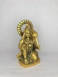 Gold plated Hanumanji with Gada
