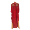 Red Full Sleeves Ladies Long Gowns