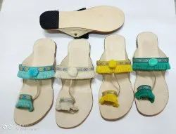 Women Stylish Colorful Kolhapuri Chappal