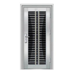 SS Hinged Stainless Steel Security Door, For Home