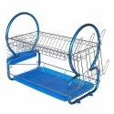 Stainless Steel Chrome 2 Tier Dish Drainer Rack