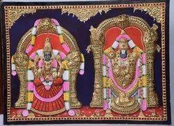 Embossed Balaji Thayar Tanjore Painting
