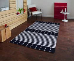 Woven Handloom Punja Oriental Cotton Carpet, Size: 4 X 6 Feet