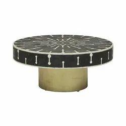 Modern 90*90*40 Cm Designer Bone Inlay Coffee Table/Center Table